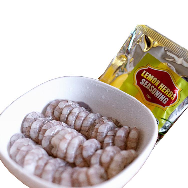 Pelagos必乐鲜 冷冻虾仁加西式柠檬味调理料包71/120 200克