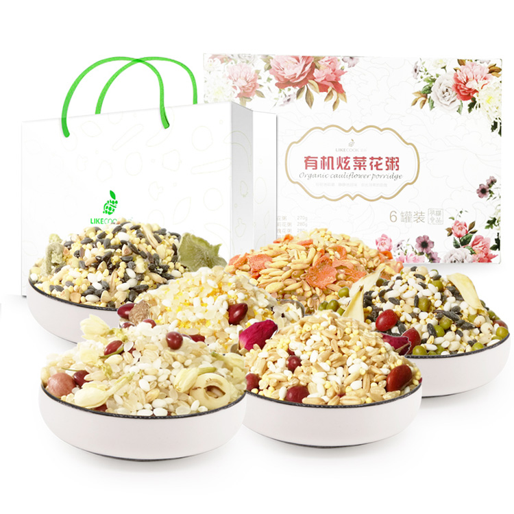 艾谷 有机炫菜花粥礼盒(6罐)1.68kg