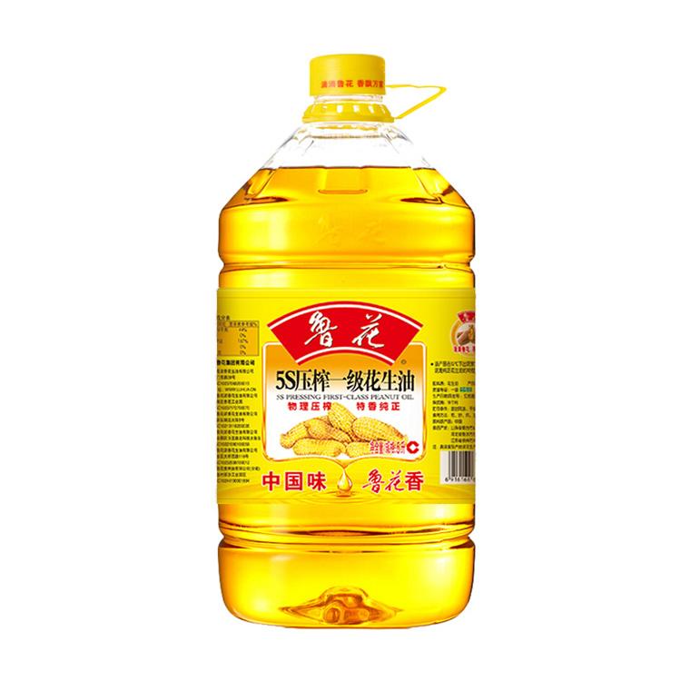 鲁花 5S压榨一级花生油5L