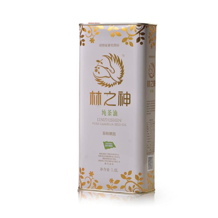 2018/8月 湖南省著名商标 林之神冷榨有机纯茶油1.6L