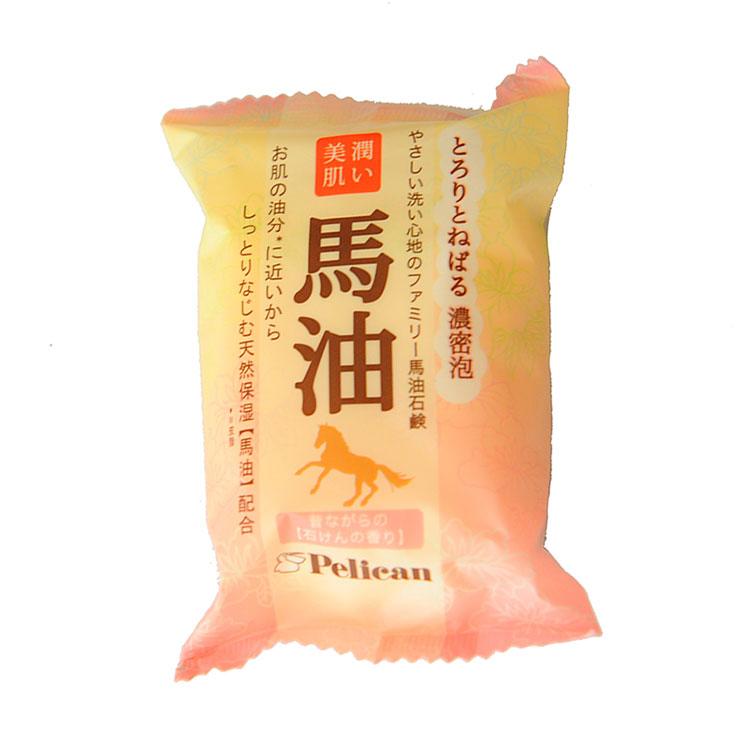 日本pelican马油香皂80g