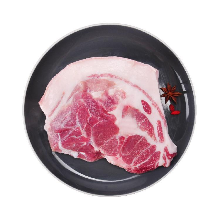 猪状元 黑毛土猪肉带皮夹心 500g