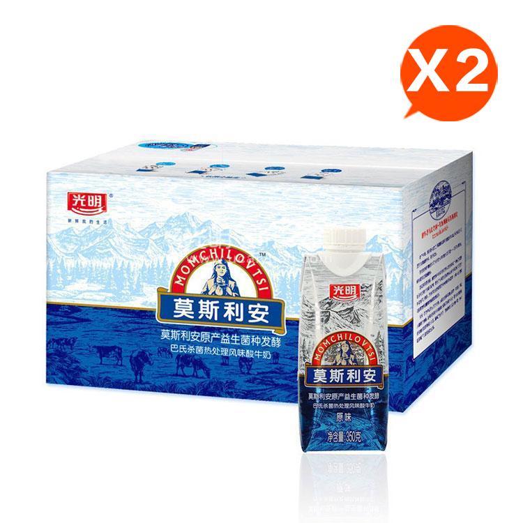 光明 莫斯利安酸奶350g*6盒*2