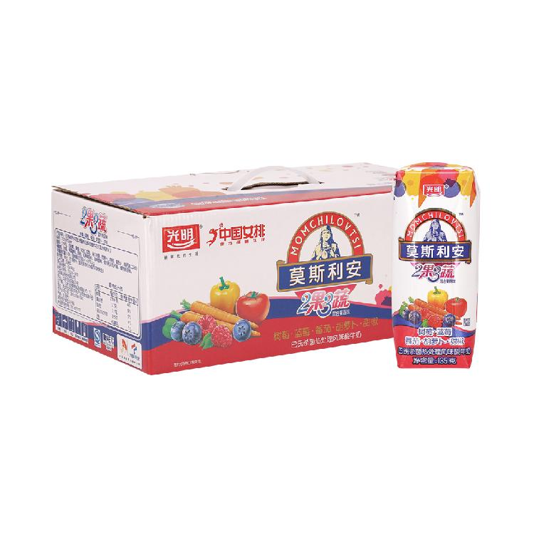 光明 莫斯利安酸奶2果3蔬混合果蔬味135g*18