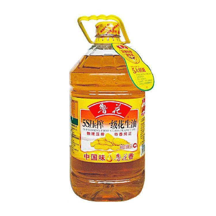 鲁花 5S压榨一级花生油 5L