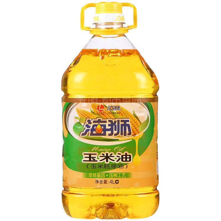 海狮 玉米油(玉米胚芽油)4L