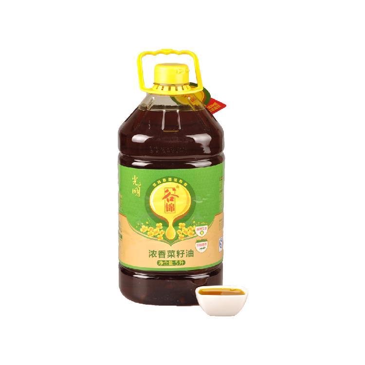 光明米业 谷锦浓香菜籽油 5L