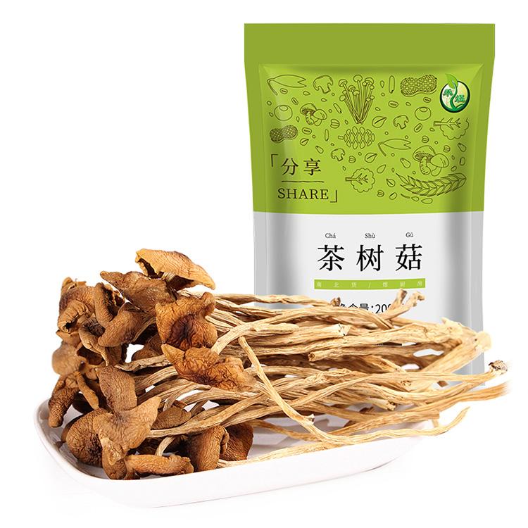 禾煜 福建特产茶树菇 200g 炒菜煲汤当季