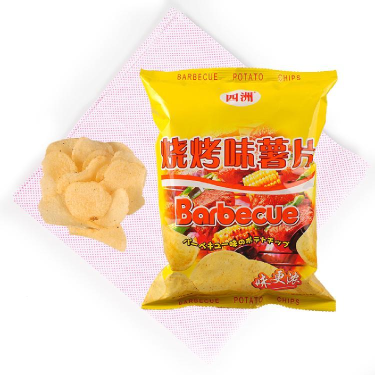 四洲 烧烤味薯片 50g