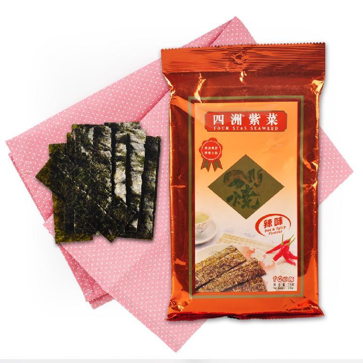 四洲 辣味紫菜10束 7.6g