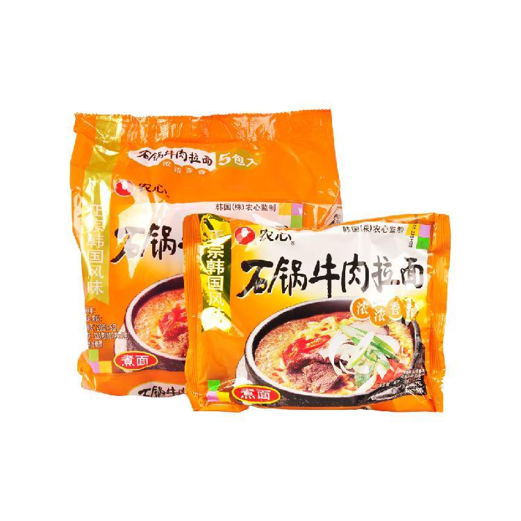 农心 石锅牛肉拉面 5连包/120g*5
