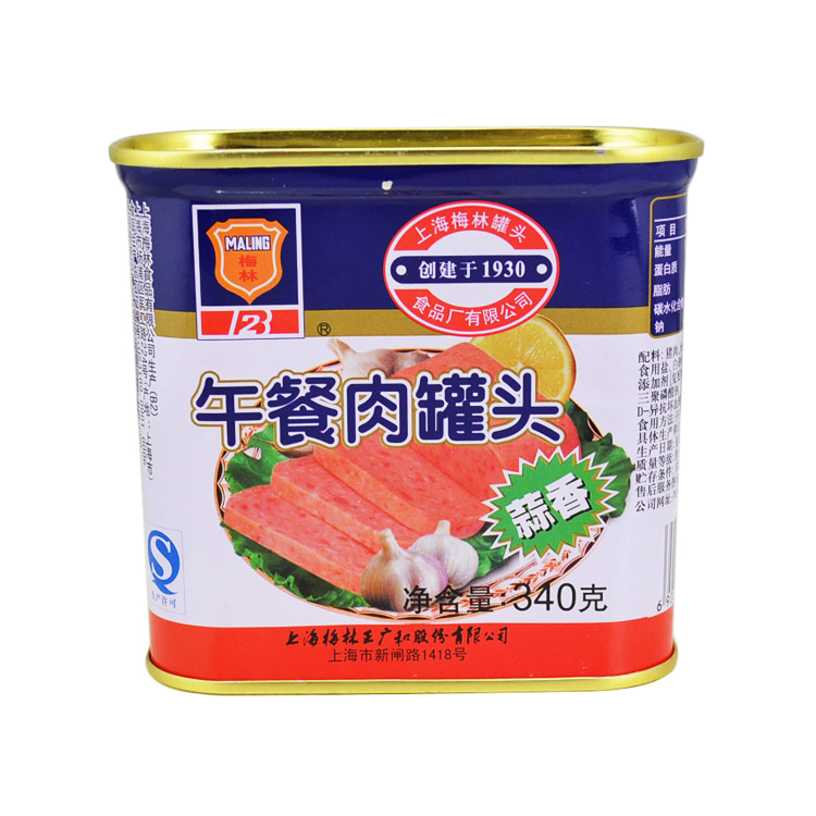光明食品 梅林 蒜香午餐肉 340g