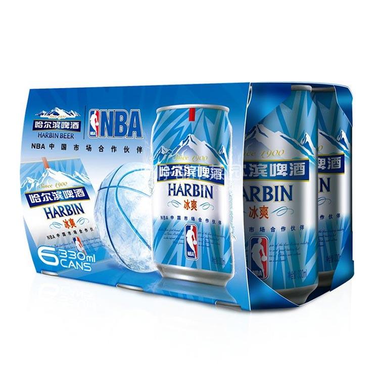 哈尔滨 冰爽啤酒 330ml*6罐