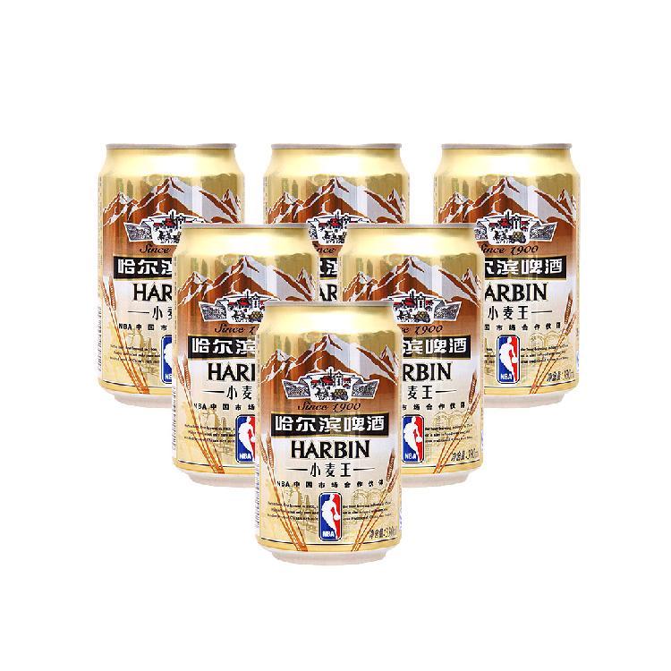 哈尔滨 小麦王啤酒 330ml*6罐