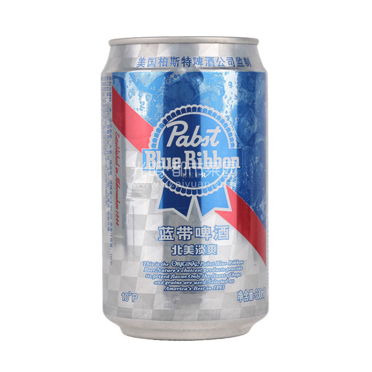 蓝带 北美淡爽啤酒 330ml