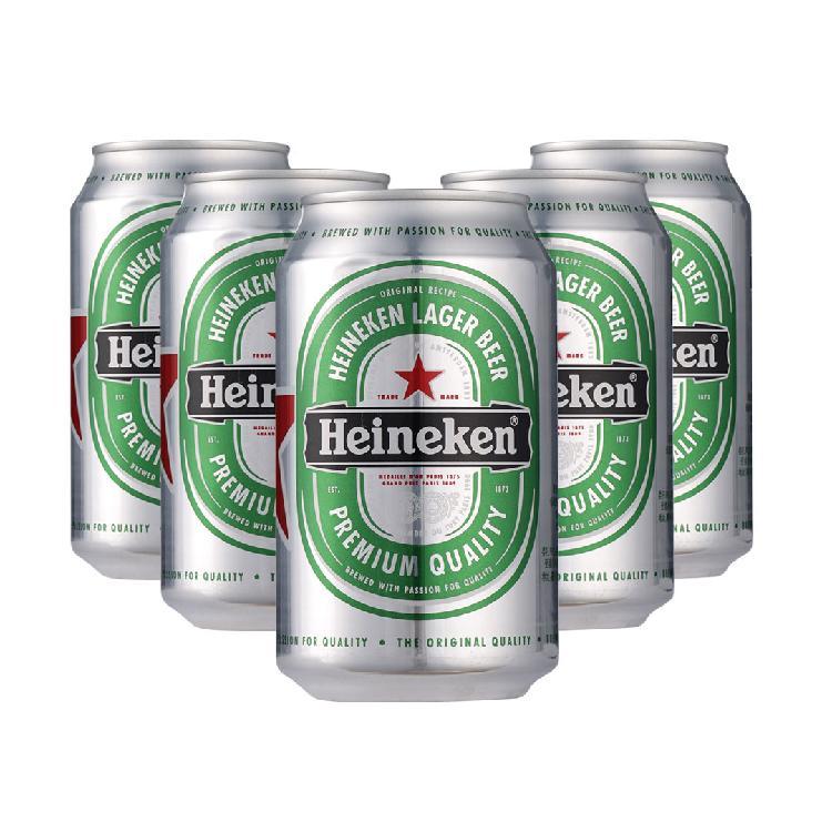 330ML听装喜力啤酒*6