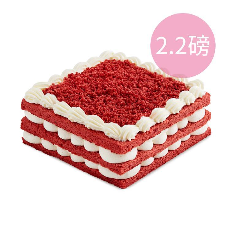 【7-8人份】INCAKE 经典红丝绒蛋糕/2.2磅