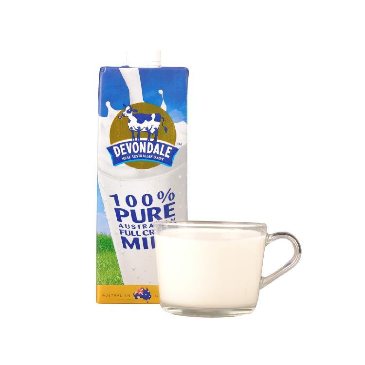 德运全脂牛奶 1L