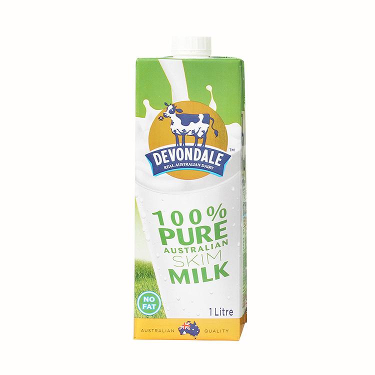 德运 脱脂牛奶1L