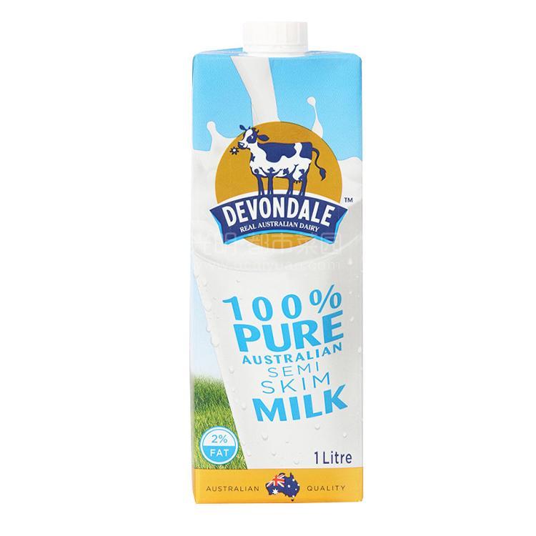 德运 部分脱脂牛奶1L