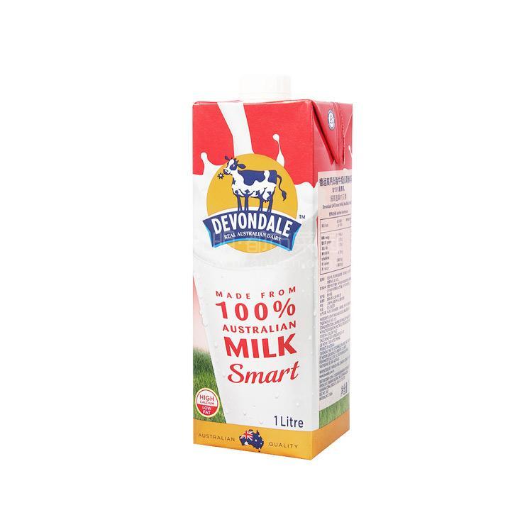 德运 高钙低脂牛奶1L
