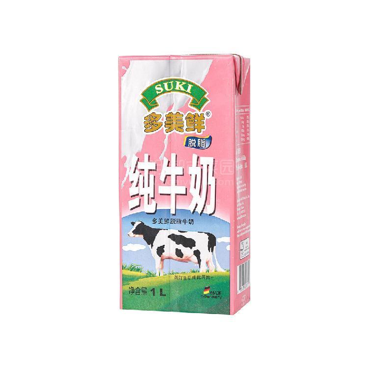 多美鲜 脱脂牛奶 1L