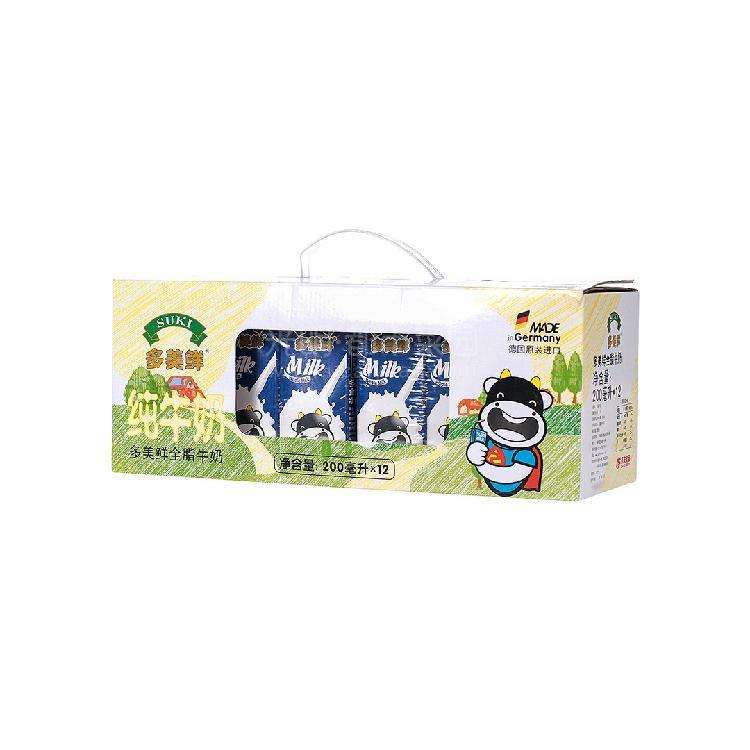 多美鲜 全脂牛奶礼盒装 200ml*12