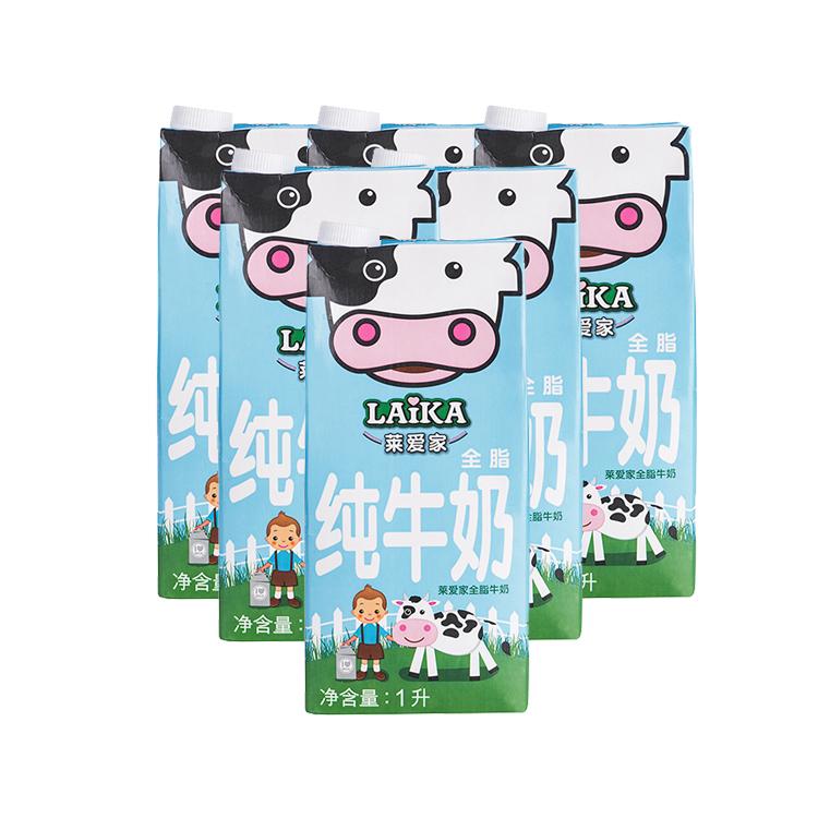 莱爱家 全脂牛奶 1L*6