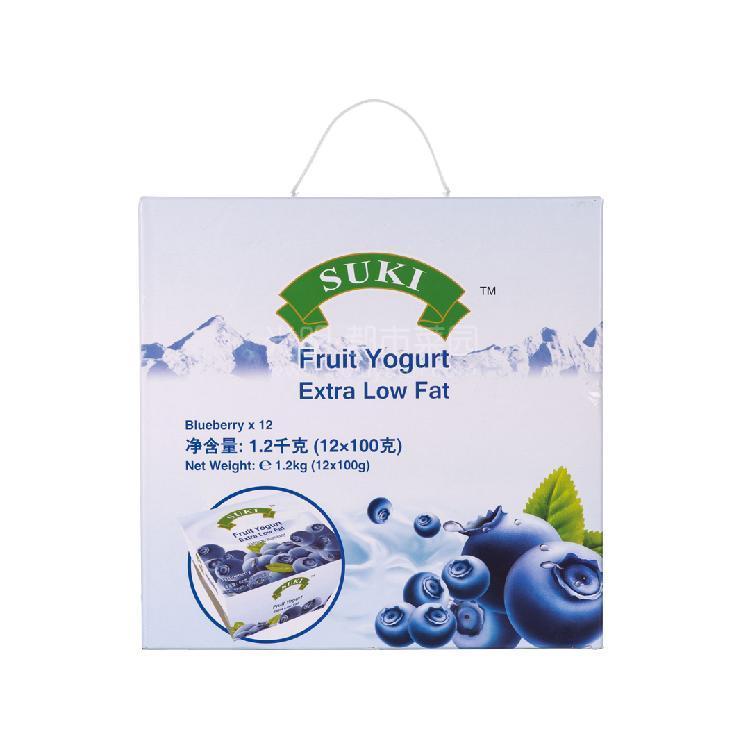 多美鲜 脱脂果粒酸奶礼盒-蓝莓果粒  1200g