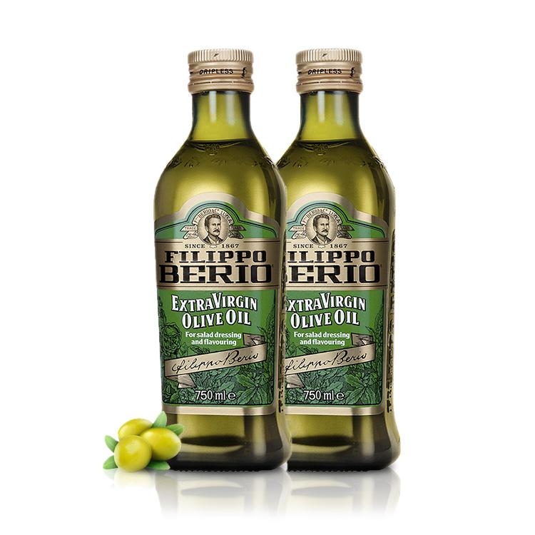 翡丽百瑞FILIPPOBERIO意大利特级初榨橄榄油 750ml*2