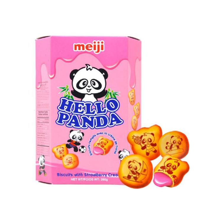明治 熊猫草莓夹心饼干 50g