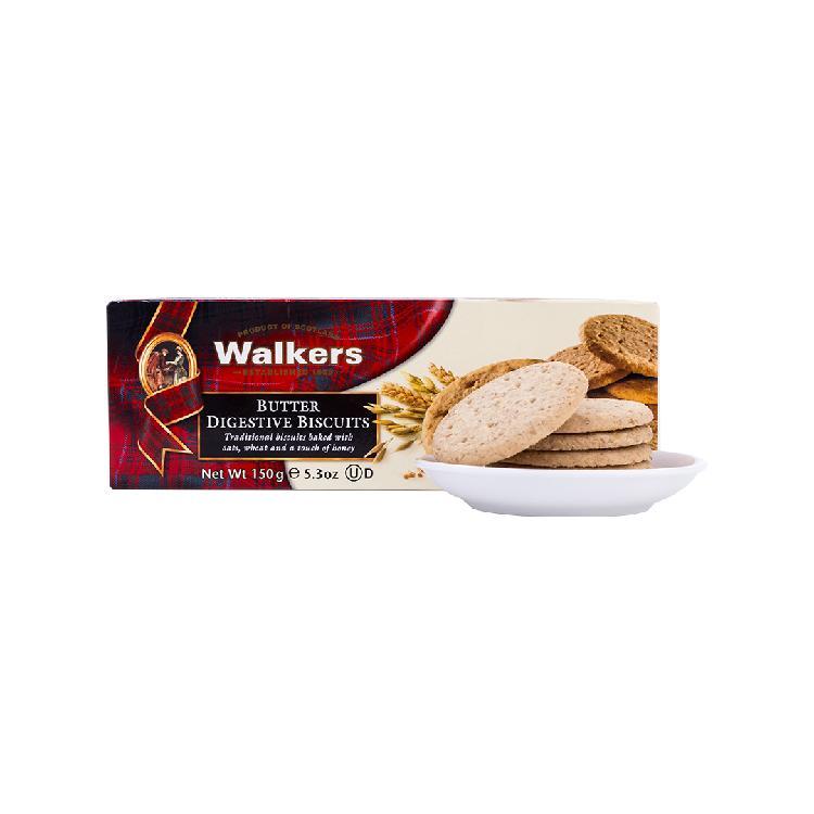 Walkers沃尔克斯黄油消化饼干150g