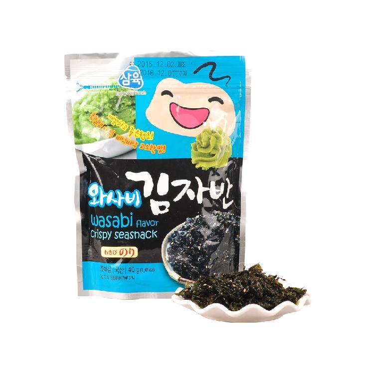 三育芥末味香酥海苔40g