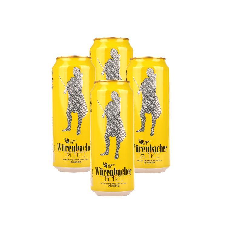 瓦伦丁 拉格啤酒  500ml/x 4