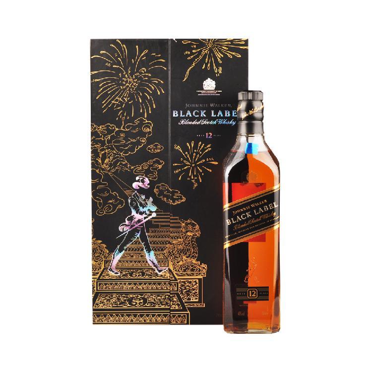 尊尼获加 黑牌12年调配型苏格兰威士忌(礼盒)700ml