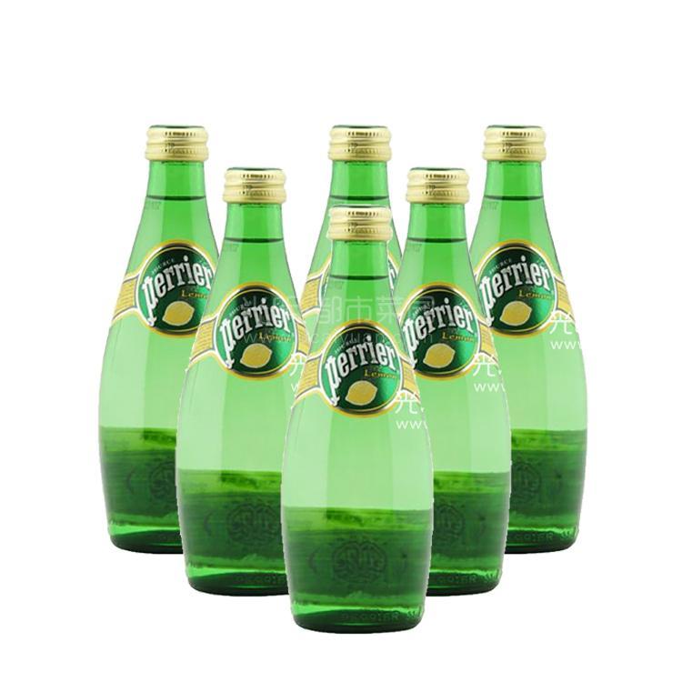 法国巴黎 天然含气矿泉水(柠檬)330ml*6瓶